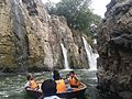 Parisal Boating in Hogenakkal falls in tamil nadu.jpg