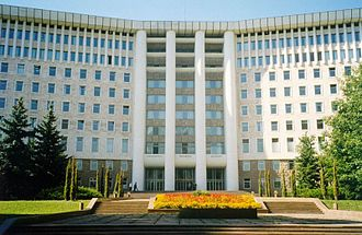 Politics of Moldova - Parliament of the Republic of Moldova in Chişinău.