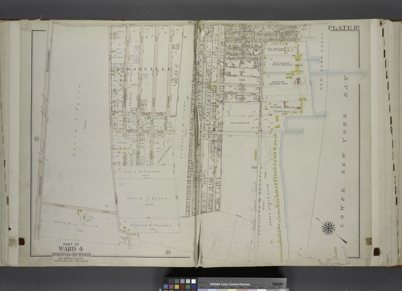 File:Part of Ward 4. (Map bound by New Dorp Lane, New Dorp Beach, Lower New York Bay, Old Mill Road (Coles Ave), Tysens Lane, South Side Boulevard) NYPL1646285.tiff