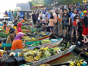 Floating market - Siring floating market in Banjarmasin, South Kalimantan