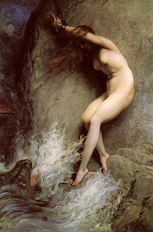 Andromeda (play) - Andromeda exposed to the sea-monster (1869) Gustave Doré.