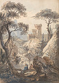 Paul Sandby - Italianate Landscape with Castle, Cascade and Anglers - Google Art Project.jpg
