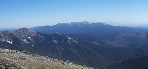 Santa Fe Baldy - From Truchas Peak, with Pecos Baldy in the foreground