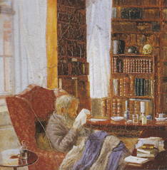 Henrik Nikolaj Krøyer in his study.