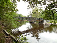Pedestrian bridge over the Charles River, Newton MA.jpg