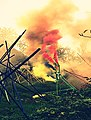 Pedro Meier Rauch Performance »Apocalypse Now« 2017, Color Smoke Bombs Installation, Ausstellung Skulpturenpark Stiftung Franz Eggenschwiler Switzerland, Nr. 03, Photo © Pedro Meier Multimedia Artist.jpg