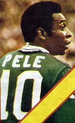66c18680f Pelé wearing the Cosmos' No. 10. The number was retired in his honor