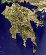 The Peloponnese as seen from space