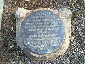Bois de la Cambre - Image: Pelouse des Anglais Plaque