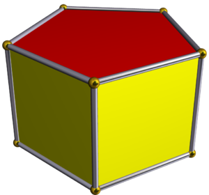 Truncated icosahedral prism