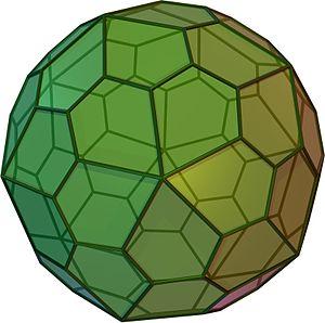 Hexecontahedron - Image: Pentagonalhexecontah edroncw