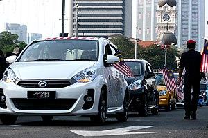 Perodua - Image: Perodua convoy at the 2011 Hari Malaysia celebrations at Dataran Merdeka, Kuala Lumpur