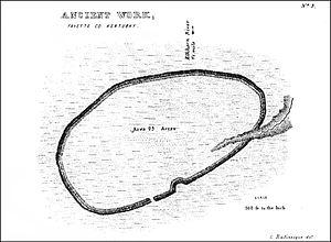 Mount Horeb Earthworks Complex - Image: Peter Village enclosure Squier and Davis Plate XIV Figure 3