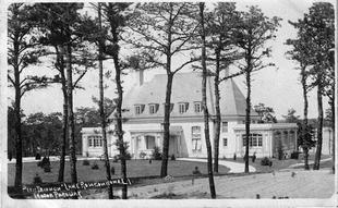 The former Petit Trianon on the southwest shore of Lake Ronkonkoma