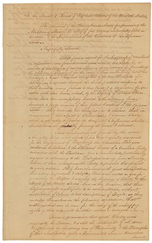 Franklin's Petition to the Congress Petition from the Pennsylvania Society for the Abolition of Slavery