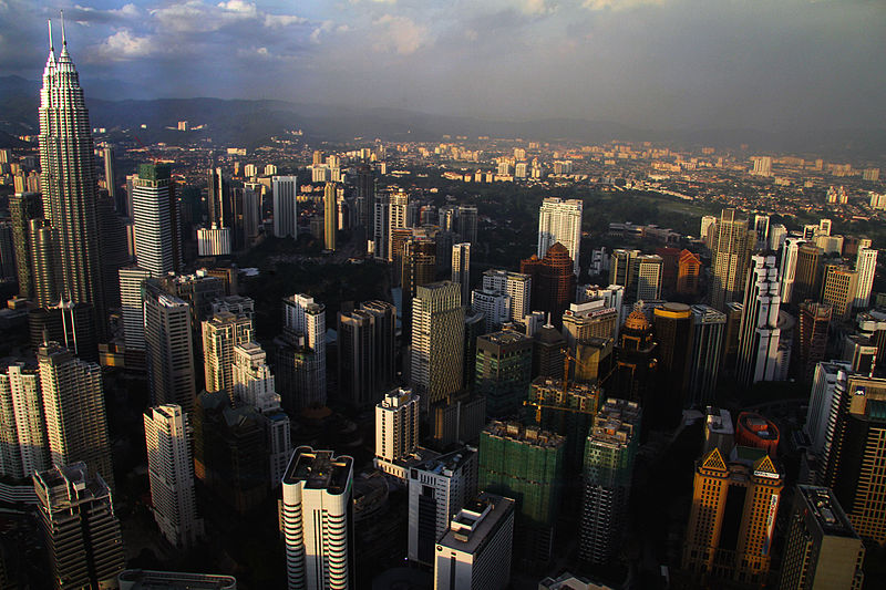 The view of Kuala Lumpur from the KL Tower