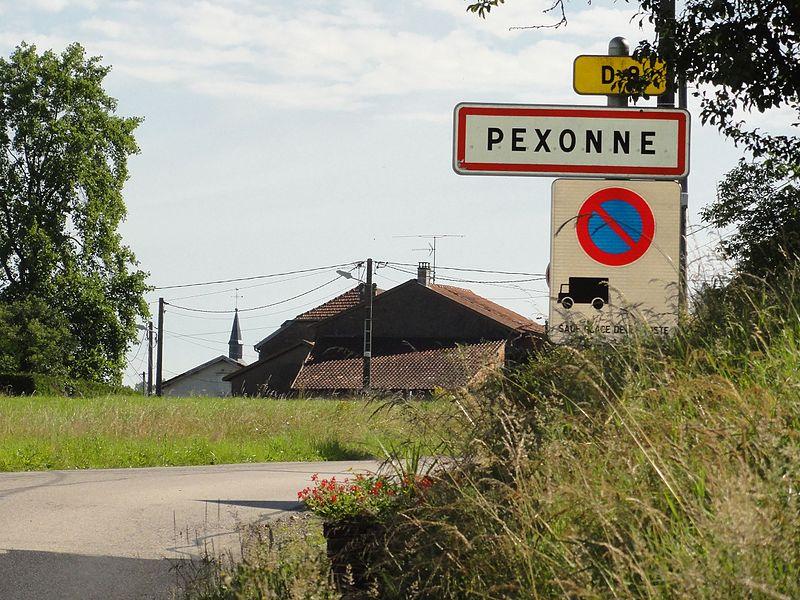 Pexonne (M-et-M) city limit sign