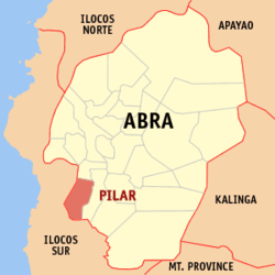 Map of Abra showing the location of Pilar