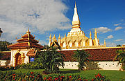 Pha That Luang in Vientiane, the national symbol of Laos.