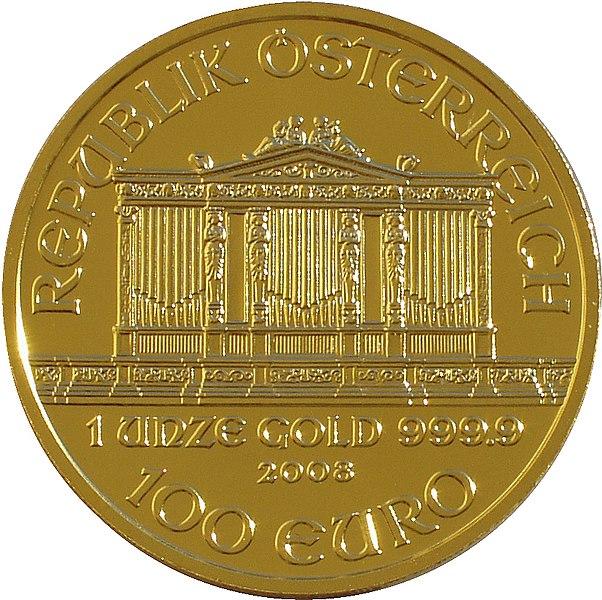 602px Philharmoniker 99 front Le Monete di Oro da Un Oncia (31,103 g): Meglio il Krugerrand
