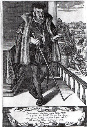 Philip I, Landgrave of Hesse - Philip of Hesse, etching by Matthäus Merian