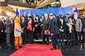 Photo de famille lors de la remise du 25e prix Sakharov à Malala Yousafzai Strasbourg 20 novembre 2013 02.jpg