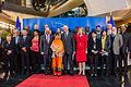 Photo de famille lors de la remise du 25e prix Sakharov à Malala Yousafzai Strasbourg 20 novembre 2013 03.jpg