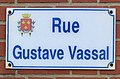 Photo de plaque de rue prise dans la commune d'Étaples - rue Gustave Vassal.jpg