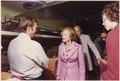 Photograph of First Lady Betty Ford Holding an Impromptu Press Conference in the Press Car while Crossing Michigan... - NARA - 186828.tif