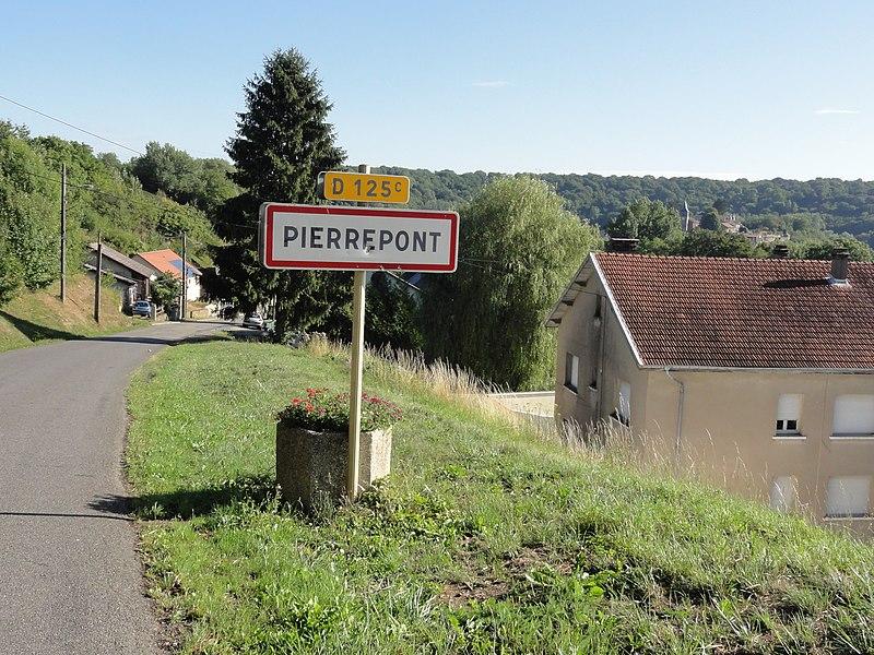 Pierrepont (Meurthe-et-M.) city limit sign