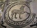Pieve Terzagni (Pescarolo ed Uniti) - Chiesa di San Giovanni Decollato - Resti di affreschi musivi pavimentali del 1100 07.JPG