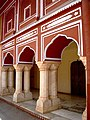Pillars at City Palace, Jaipur.jpg