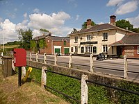 Pimperne, postbox No. DT11 108, Chapel Lane - geograph.org.uk - 1375009.jpg