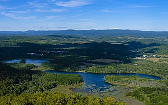 Pine Plains (CDP), New York - Pine Plains from the fire tower on Stissing Mountain to the southeast