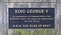Plaque, George V statue, Queensway Tunnel.jpg