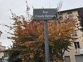 Plaque Rue Claude Bernard à Villefranche.JPG