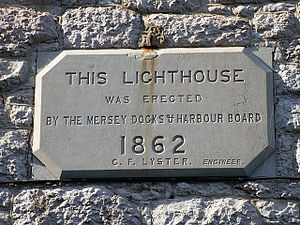 1862 in Wales - Plaque at Llandudno Lighthouse, erected 1862
