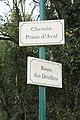 Plaques chemin Prion Aval route Druillets St Cyr Menthon 2.jpg