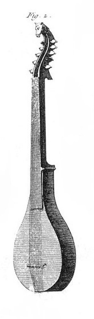 Cittern - Cittern with hook on neck and buckles or shoulders, 1767