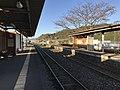 Platform of Toyotsu Station (Tagawa Line) 6.jpg