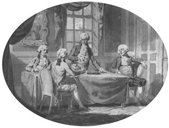 Charles Whitworth, 1st Earl Whitworth - Plenipotentiaries of Britain, Holland, Prussia and Russia signing the Treaty of 1791