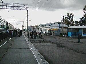 Arkhangelsk Oblast - Plesetskaya railway station in the settlement of Plesetsk