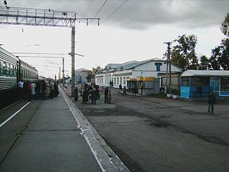 Arkhangelsk Oblast - Plesetskaya railway station in the settlement of Plesetsk