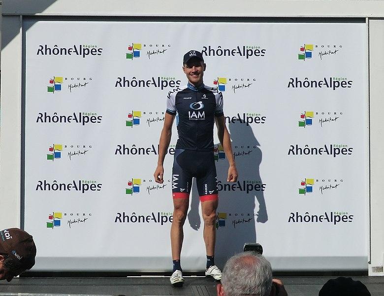 Matthias Brändle, meilleur grimpeur du Tour de l'Ain 2013.