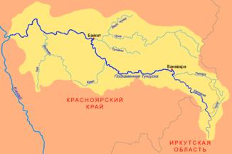 Povodí kamenité Tungusky s přítoky