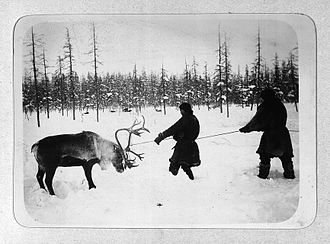 Jurchen people - Siberians capturing a reindeer