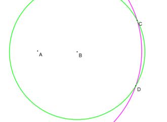 Mohr–Mascheroni theorem - Point symmetry