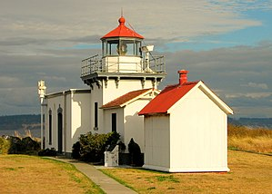 "United States Lighthouse Society - Since 2008, the United States Lighthouse Society has been headquartered in the historic ""Keeper's House"" on the grounds of the Point No Point Light (shown here) in Hansville, Washington."