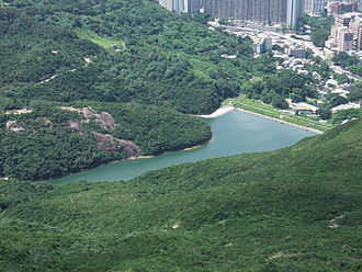 Pok Fu Lam Reservoir - Pok Fu Lam Reservoir, viewed from High West