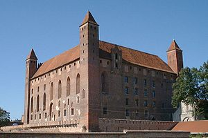 Treaties of Cölln and Mewe - Teutonic Order's castle in Mewe (Gniew)